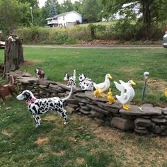 Busy week in NY on Waneta Lake. Delivered Dalmatians,  Ducks, and even a Bird Dog Birdhouse painted to resemble a Dalmatian. Also australian for Patrick.