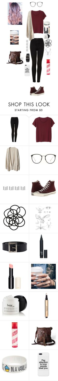"""""""Untitled #292"""" by cookieeater10 ❤ liked on Polyvore featuring Topshop, Monki, Linda Farrow, Maison Margiela, Converse, In Your Dreams, Dolce&Gabbana, Floss Gloss, Pink Sugar and Campomaggi"""