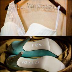Personalized Wedding Dress Hanger & Shoes - mazelmoments.com