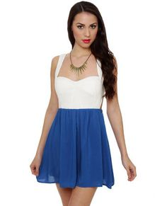 0c22b88da28b Side Dish Blue and White Dress Junior White Dresses