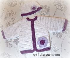 Baby Cardigan ~ Free Crochet Patterns and Designs by LisaAuch