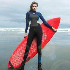 Ladies 1.5mm Fullsuit Surfing Wetsuit with Back Zip
