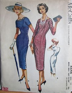 Vintage 1950s  McCalls 4548  UNCUT Easy Sewing by desertcottage, $15.50