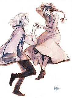 Howl and Sophie by burdge.tumblr.com