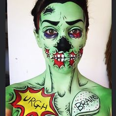 Pop art makeup. Zombie makeup                                                                                                                                                     More