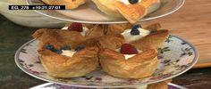 Ciastka francuskie z kremem budyniowym