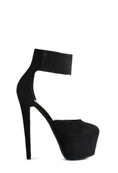 Sky-high and so sexy, Christabelle by JustFab is an extreme platform pump featuring a double d'Orsay design with a super thick ankle strap.