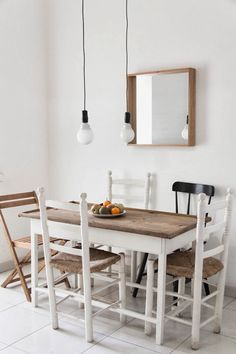The serene white and wood home of an architect