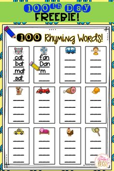 FREE Day of School Activity & Teaching Ideas To help ensure the day is something you can look forward to and enjoy (instead of stress over and worry about planning) I'm happy to share with you my Day of School Celebration Centers and a FREEBIE. 100 Day Of School Project, School Projects, School Ideas, 100 Day Project Ideas, Kindergarten Shirts, Kindergarten Graduation, Rhyming Activities, Kindergarten Activities, Physical Activities