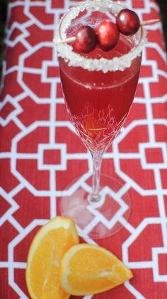 It's December which means it's the most wonderful time of the year! Time to toast, cheers and be merry! What better way to get in a festive mood than whipping up a beautiful cranberry cocktail?  Orange and cranberry make a great pair in this Cranberry Orange Sparkler. Add a few fun garnishes and serve for instant holiday cheer! Cranberry's festive color and tart taste is perfect when paired with dry sparkling wine. The hint of sweet orange juice works perfectly for a very balanced and tasty ...