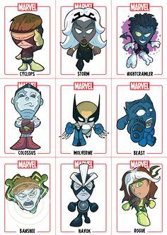 Chibi X-Men sheet1 by *Juggertha on deviantART