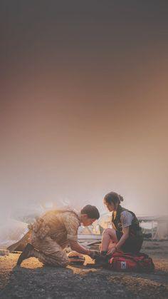 Song Joong-ki and Song Hye-kyo Descendants of the sun Songsong Couple, Cute Couple Art, Descendants Of The Sun Wallpaper, Decendants Of The Sun, Dots Kdrama, Song Joon Ki, Cute Couple Wallpaper, Sun Song, Korean Drama Quotes