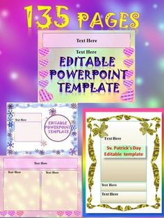 Editable PowerPoint PackBrighten your classroom  every season with these 15 different PowerPoint templates- 135 pagesEach theme contains nine PP slides. These Powerpoints can be used for personal or commercial use. May also be used as a TPT seller to create powerpoints/products to sell.This template can be used as a PowerPoint to add all of your own text or print the slides to create an attractive  themed word wall!This product is a growing bundle!