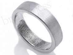 Fingerprint . Rings for men . Unique design