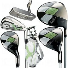 CALLAWAY WOMEN'S SOLAIRE 14-PIECE COMPLETE SET (RIGHT-HANDED, DRIVER, 3-P, GRAPHITE SHAFT)