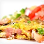Scrambled Eggs, Peaches, Muffin and Cream Cheese   Get Skinny - Atkins ...
