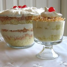 Coconut Trifle Recipe - Coconut Custard Cream Trifle Recipe