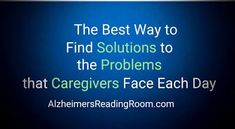 Search Our Award Winning Knowledge Base for Answers to your Questions, and Solutions to your Problems about Alzheimer's and dementia.