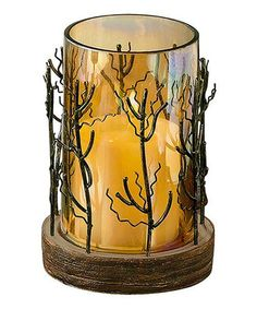 Take a look at this Forest Pillar Candleholder by Grasslands Road on #zulily today! $22 !!