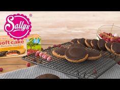 Leckere Softcakes, ganz einfach selbstgemacht aus einem Biskuit, einer Fruchteinlage und Schokolade.