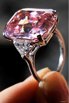 Rare pink diamond is sold for world record pounds to British billionaire jeweller. The rectangular diamond which weighs carats was bought by the British billionaire jeweller Laurence Graff, aged 72 years and dubbed 'The King of Bling' Emerald Cut Diamonds, Colored Diamonds, Diamond Cuts, Pink Diamonds, Diamond Rings, Ruby Rings, Emerald Rings, Pink Rings, Rare Diamonds