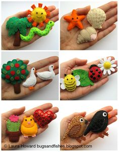 Lots of cute free felt tutorials to celebrate the publication of Super-Cute Felt Animals -- Bugs and Fishes
