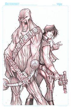 STAR WARS HAN AND CHEWIE WIP 02 by RobDuenas on DeviantArt