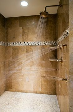 ~Multiple shower heads, a must have in our next house.