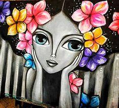 Pichwai Paintings, Indian Art Paintings, Modern Art Paintings, Dot Art Painting, Watercolor Art, Frida Art, Mandala Art Lesson, Hand Art, Cool Art Drawings