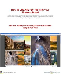 How to CREATE PDF file from your Pinterest Board.