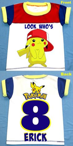 Pokemon Birthday Boy T Shirt Personalized 2T3T4T5T6T