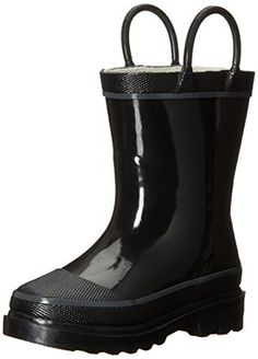 Solid color rain boot to accent a variety of outfits.  http://shoes.bestselleroutlet.net/product-review-for-western-chief-firechief-2-rain-pull-on-boot-toddlerlittle-kidbig-kid/