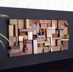 Large Wooden Wall Art reclaimed wood wall art 37x24x5 large artcarpentercraig