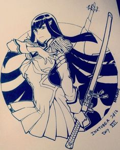 Satsuki Kiryuin, Kill La Kill, Anime, Black, Art, Black People, Anime Shows, Kunst, Art Education