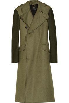 Original price $1,445 NOW  $578 60% OFFMcQ Alexander McQueen Oversized wool-blend flannel coat