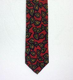 Burberrys of London 100% Pure Silk Necktie Red Blue Green Tie  fashion b23ea41ea