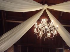 Decorating the ceiling with fabric   Wedding Decorator Blog