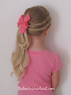 Double Twists and Ponytail amp; Tons of other adorable little girls hair dos