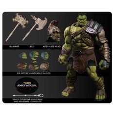 Marvel Films, Marvel Dc, Marvel Cartoons, Marvel Comics, Hulk Action Figure, Action Figures, Thor Ragnarok Movie, Gladiator Hulk, The Mighty Thor