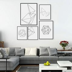 Perfect Aliexpress.com : Buy Modern Abstract Black White Geometric Shape A4 Large Poster Prints Minimalist Hipster Home Wall Art Decor Canvas Paintings Gifts from Reliable a4 orange suppliers on ..
