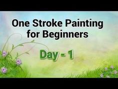 One stroke painting for beginners. One stroke decorative art painting techniques. Acrylic Painting Flowers, Acrylic Painting For Beginners, One Stroke Painting, Acrylic Painting Techniques, Step By Step Painting, Beginner Painting, Painting Lessons, Watercolor Techniques, Painting Tips