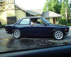 Datsun nice wheels, almost mini lite style. Datsun 1600, Datsun Car, Nissan, Old School Cars, Japanese Cars, Ford Trucks, Motor Car, Cool Cars, Dream Cars