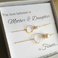 Mother Daughter Bracelet Set Gold Eternity By Anatoliantaledesign 46 00 Bracelets Mothers