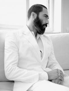 men's white suit
