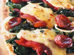Focaccia mit Jarlsberg, Chorizo und Spinat ist ein Rezept mit frischen Zutaten aus der Kategorie Herzhafte Kuchen. Probieren Sie dieses und weitere Rezepte von EAT SMARTER!