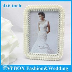 Wholesale Wholesale Luxury Elegant 4x6 Inch White Fashion Resin Artifical Pearl With Crystal Wedding Bridal Photo Frame From Acer2013, $160.51 | Dhgate.Com