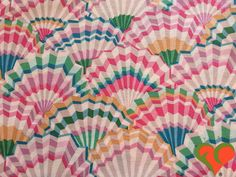 Early Kaffe Fassett Paper Fans Cream Fabric GP57 Half Yard. Retired. Rare. HTF. OOP. by FayCarrieQAOT on Etsy
