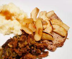 Recipe for making Côtes de Porc à la Flamande, baked porkchops with apples, at home (Escoffier, 2921).