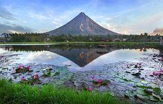 Вулкан Майон, Филиппины.