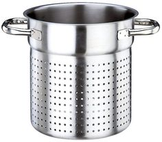 Paderno World Cuisine 11 Inch Stainless Steel Stock Pot Colander ** For more information, visit image link. (This is an affiliate link) Cast Iron Wok, Steel Stock, Glider And Ottoman, Double Boiler, Kitchen Dining, Stainless Steel, Dishes, Appliance